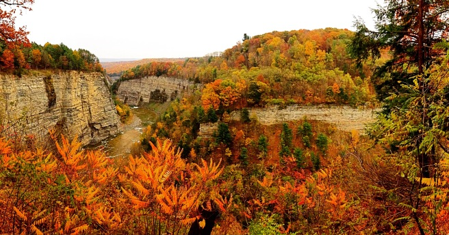 Letchworth State Park in the fall.